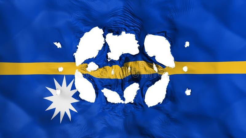 Furos na bandeira de Nauru ilustração stock