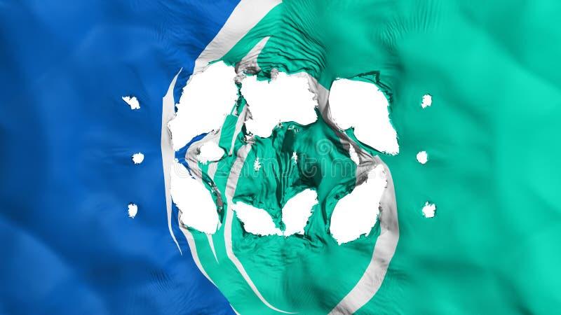 Furos na bandeira de Ottawa ilustração stock