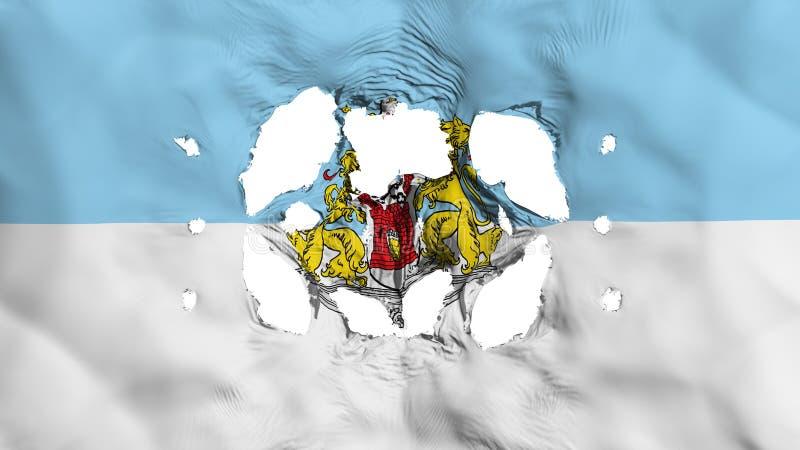 Furos na bandeira de Riga ilustração stock