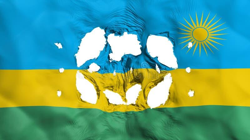 Furos na bandeira de Ruanda ilustração do vetor