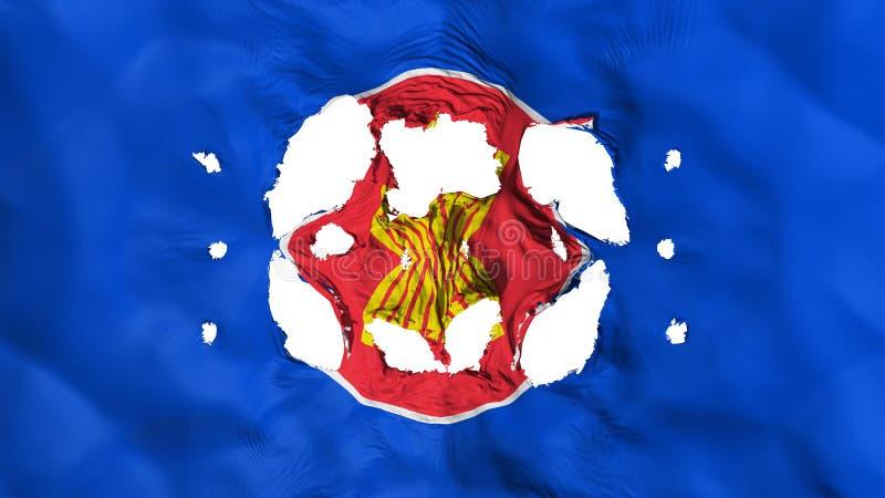 Furos na bandeira do ASEAN ilustração stock