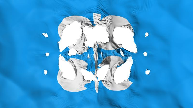 Furos na bandeira do OPEC ilustração do vetor