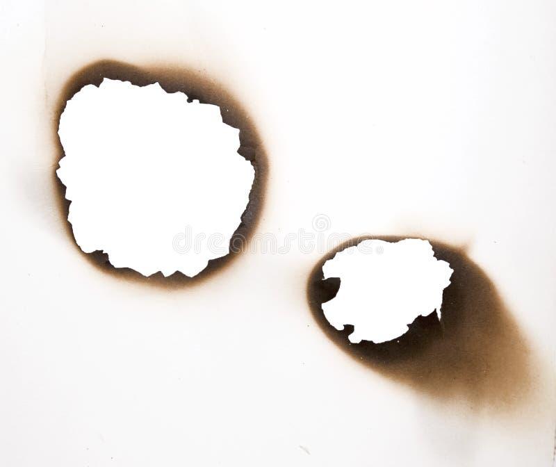 Furos queimados foto de stock royalty free