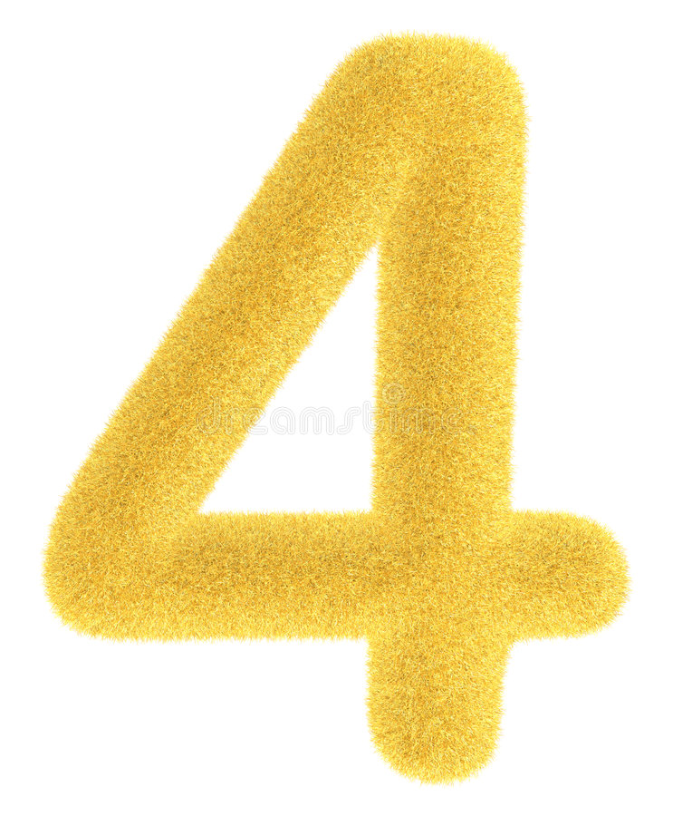 Furry yellow number