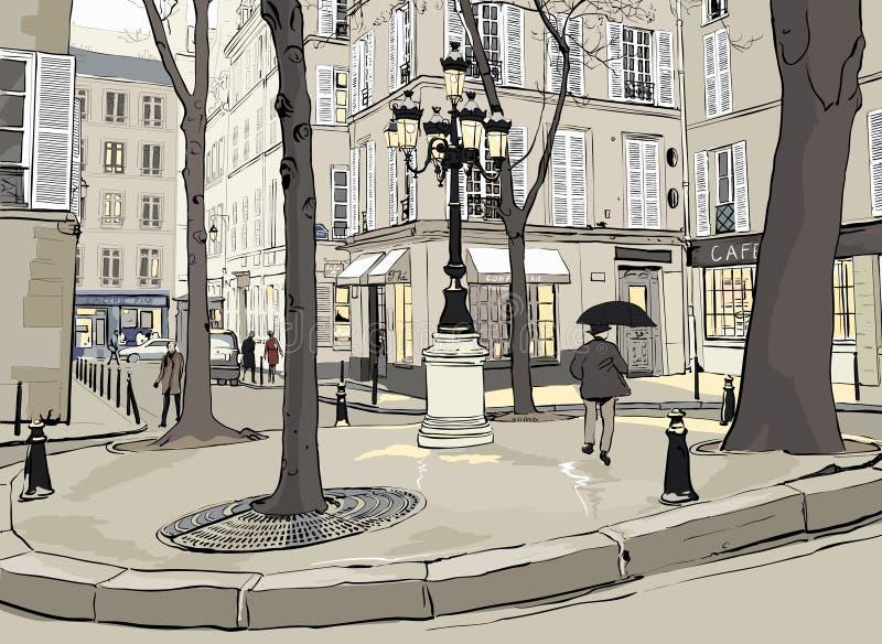 furstemberg Paris kwadrat ilustracji