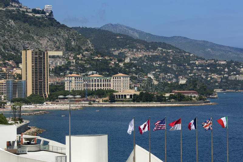 Furstendöme av Monaco - franska Riviera arkivbilder