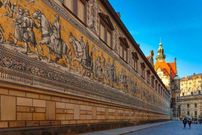 Furstenzug, procesión de príncipes, Dresden, Alemania foto de archivo