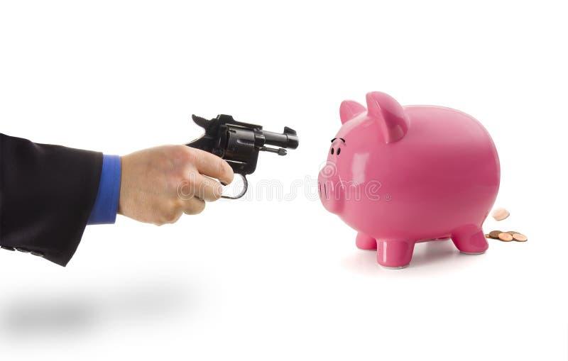 Furto della Banca Piggy fotografia stock libera da diritti