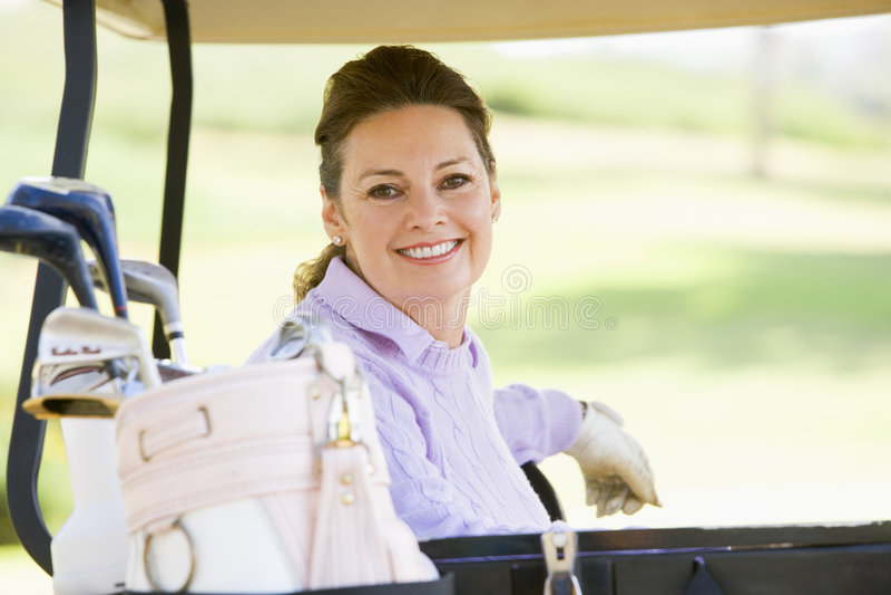 fury golfowego portreta siedząca kobieta obrazy stock