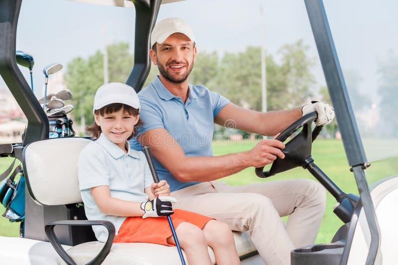 fury ojca golfa syn obraz royalty free