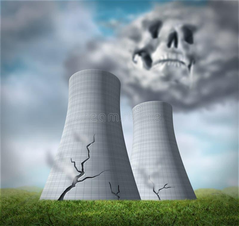 Fusão do reator nuclear ilustração stock