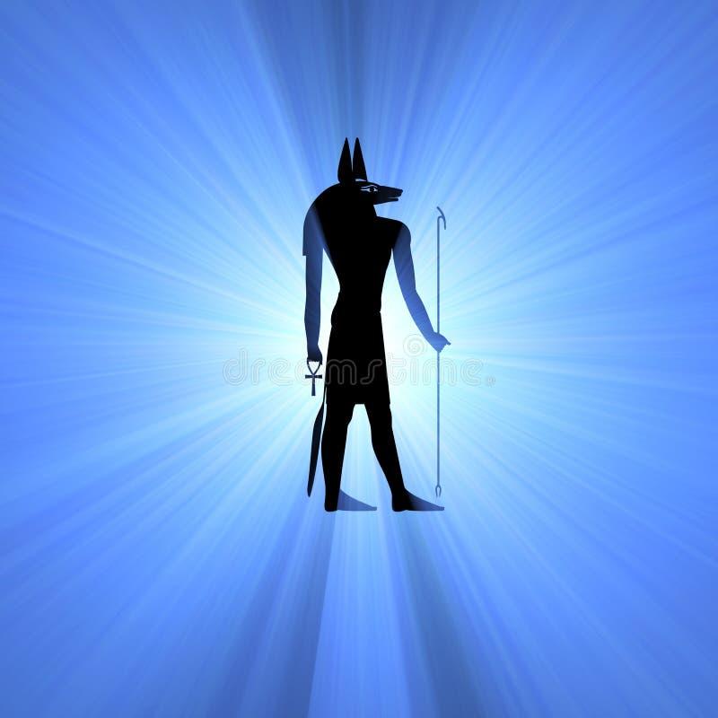 Fusée égyptienne de lumière de symbole d'Anubis illustration libre de droits