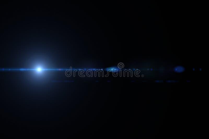 Fusée de lentille d'isolement dans le noir image libre de droits