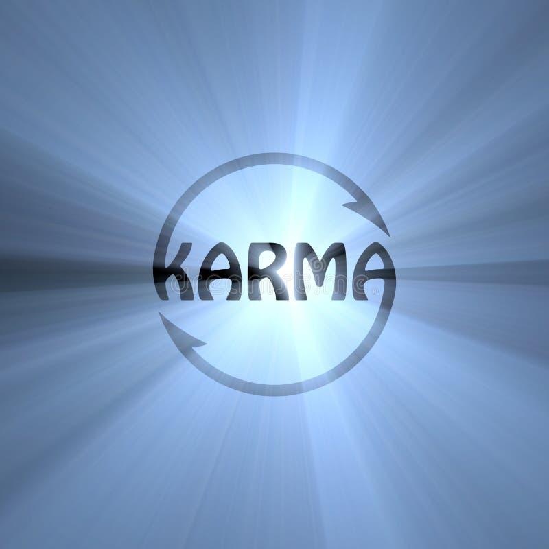 Fusée de lumière de signe de bouddhisme de lettre de karma illustration de vecteur