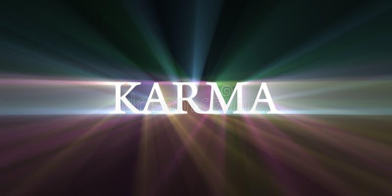 Fusée de vitesse de la lumière de karma illustration stock