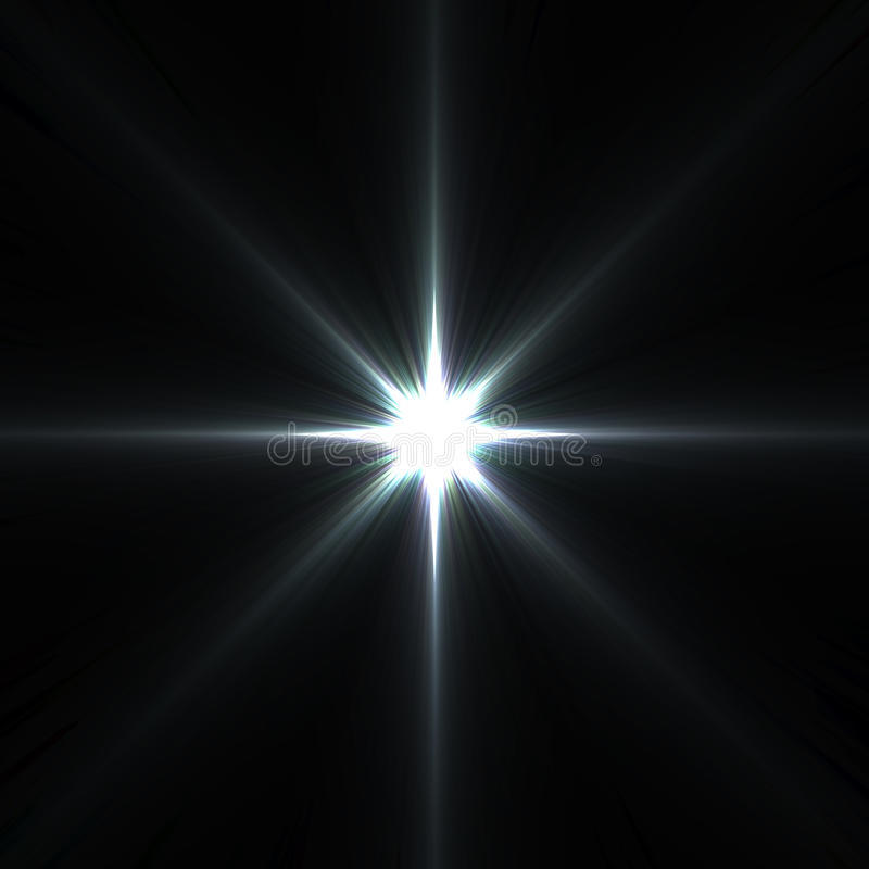 Fusées d'étoile d'isolement sur le noir