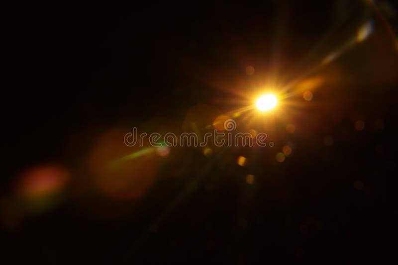 Fus?e naturelle abstraite de Sun sur le noir images stock