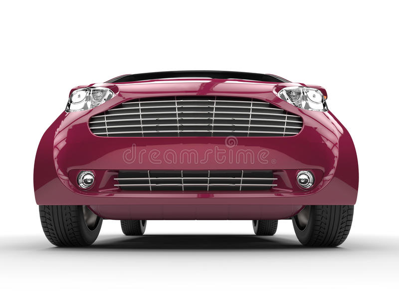 Fuschia Colored Compact Car vektor illustrationer