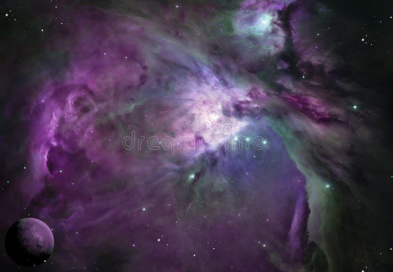 Fuscia Planets royalty free illustration