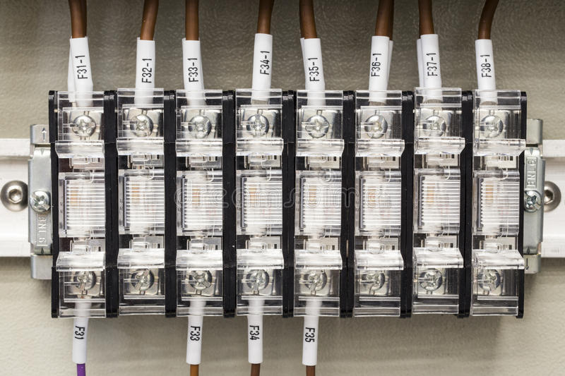 Fuse box for electricity in a factory. Or plant stock photo