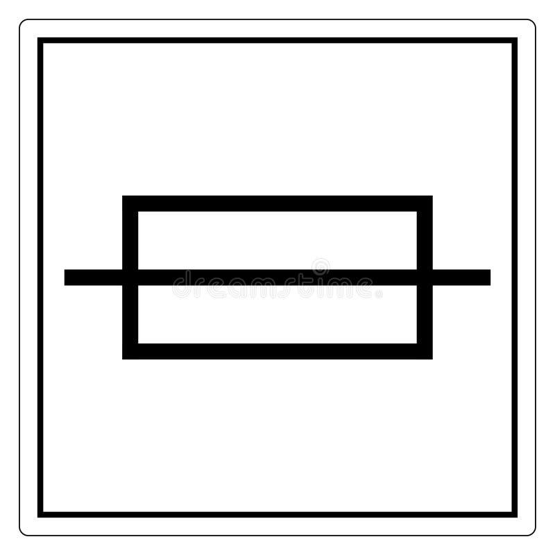 Fuse Symbol Sign Isolate On White Background,Vector Illustration EPS.10. Template, circuit, breaker, box, icon, technology, equipment, power, energy vector illustration
