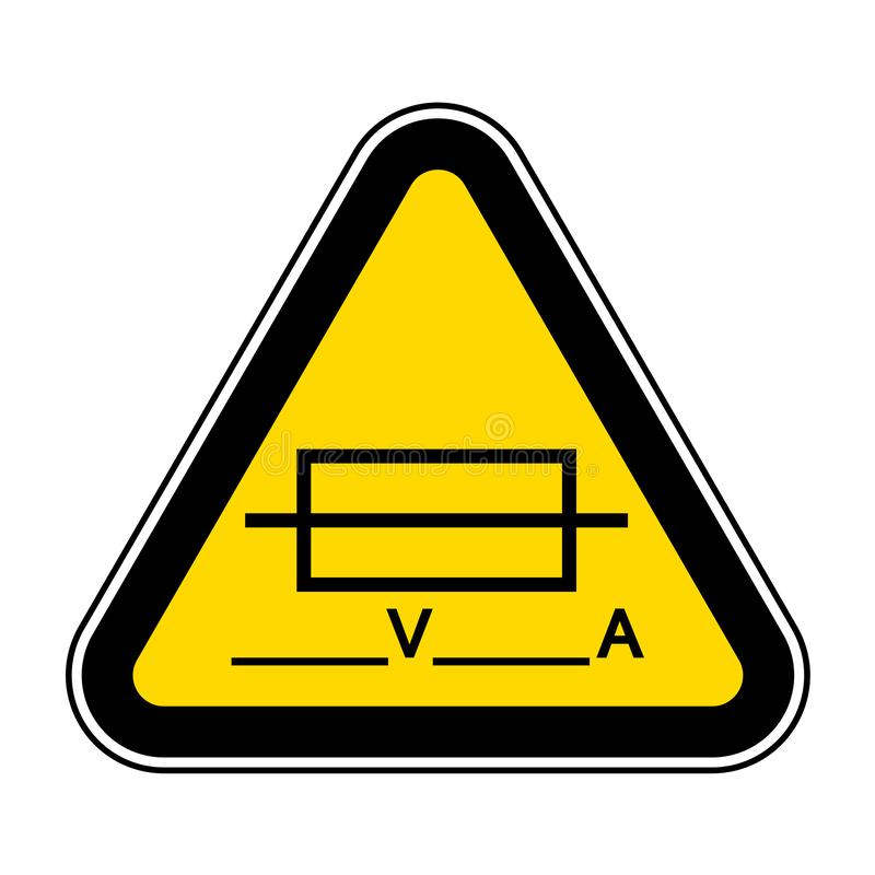 Fuse (Writable) Symbol Sign Isolate On White Background,Vector Illustration EPS.10. Ampere, automotive, battery, box, breaker, car, circuit royalty free illustration