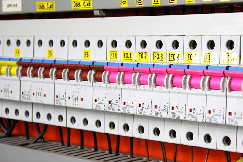 Fusebox stock photo image of panel cycle wires power