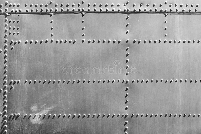 Fuselage Abstract. Abstract detail of fuselage and rivets on a military aircraft royalty free stock photos
