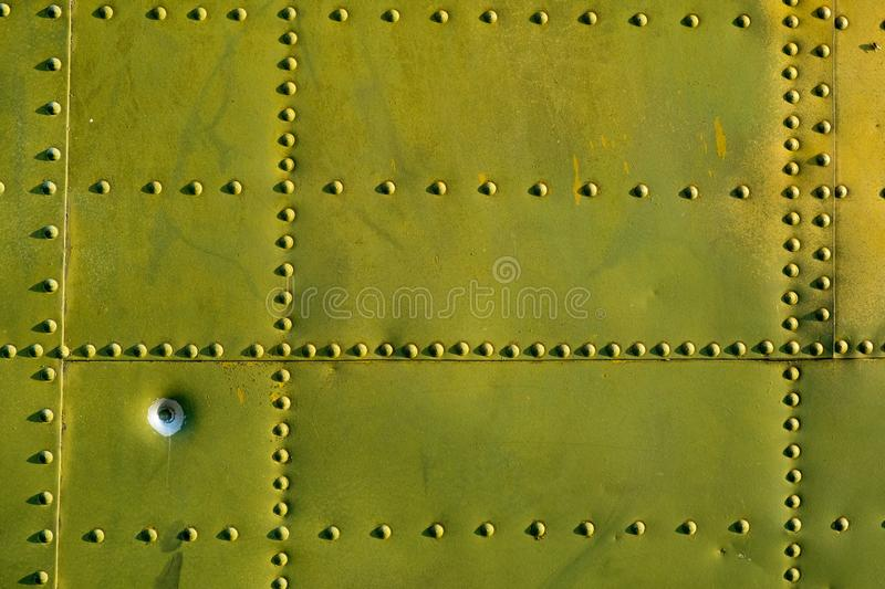 The fuselage of the aircraft is green royalty free stock photos