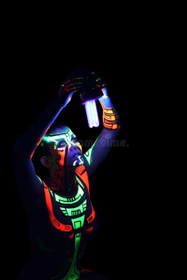 Fuselage-art au néon image stock