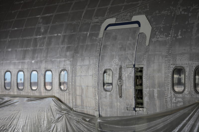 The fuselage of Boeing 747. 400 without paint royalty free stock photography