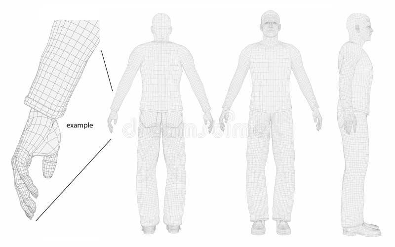 Fuselage d'homme de fil illustration de vecteur