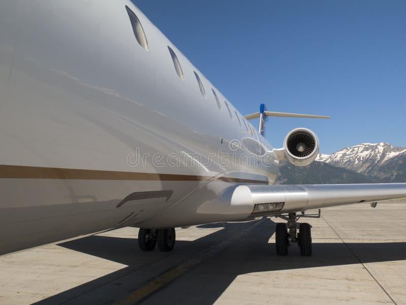 Fuselaje de un aeroplano en Jackson Hole, WY fotos de archivo