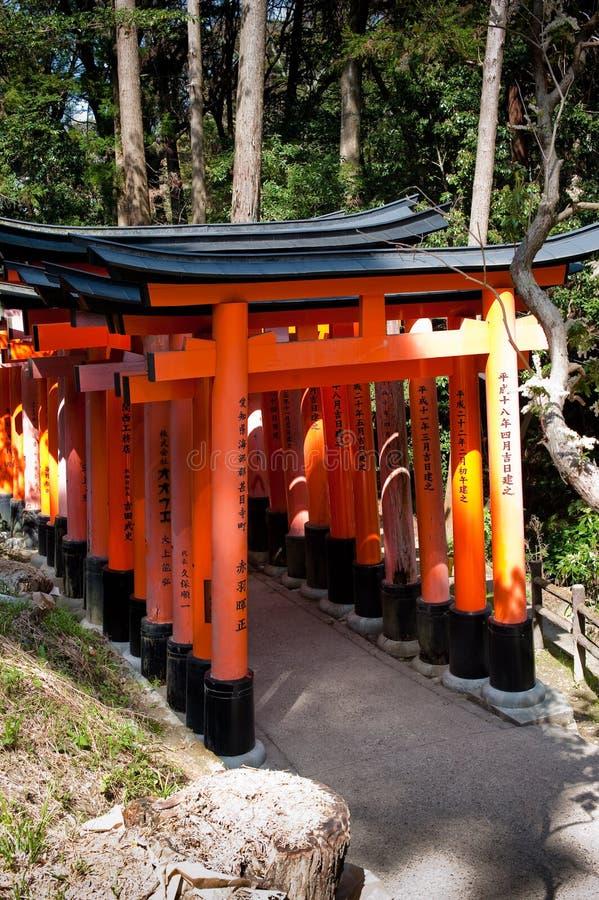 Fushimi Inare Tojii Gates royalty free stock images