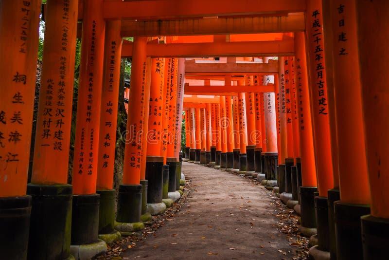 Fushimi Inari寺庙在京都,日本 免版税图库摄影