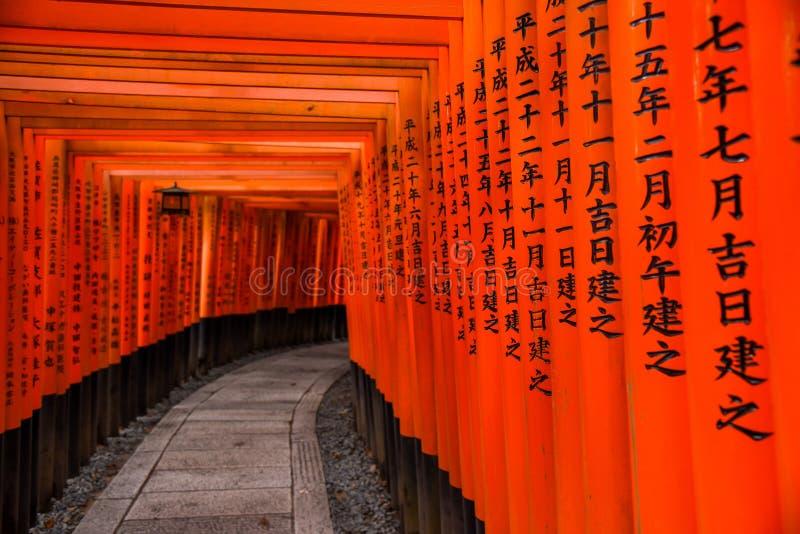 Fushimi Inari寺庙在京都,日本 库存照片