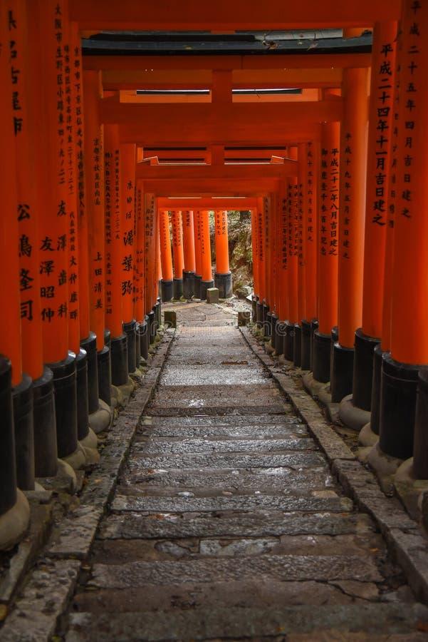 Fushimi Inari寺庙在京都,日本 免版税库存图片