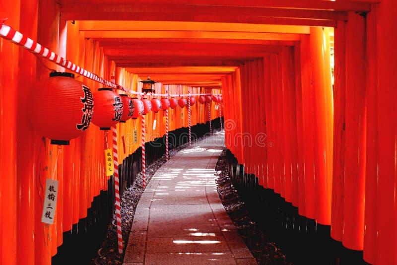 Fushimi Inari寺庙在京都 免版税库存图片