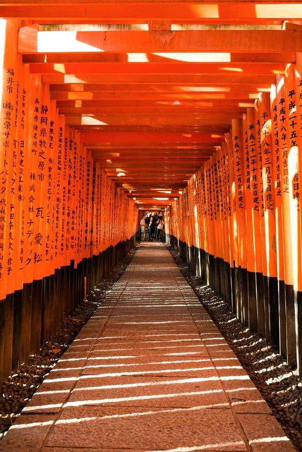 Fushimi inari足迹,京都,日本 库存照片