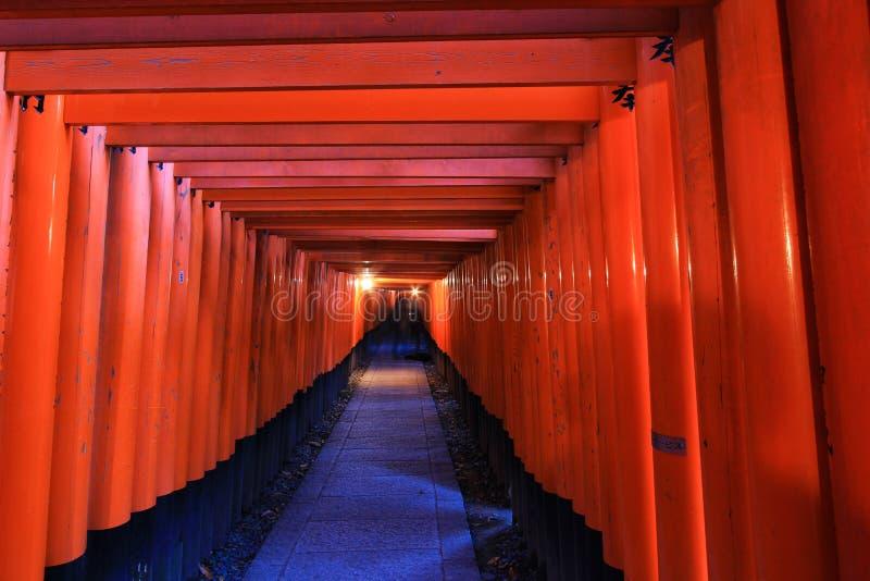 Fushimi Inari świątynia, Fushimi-ku, południowy Kyoto, Japonia zdjęcia royalty free