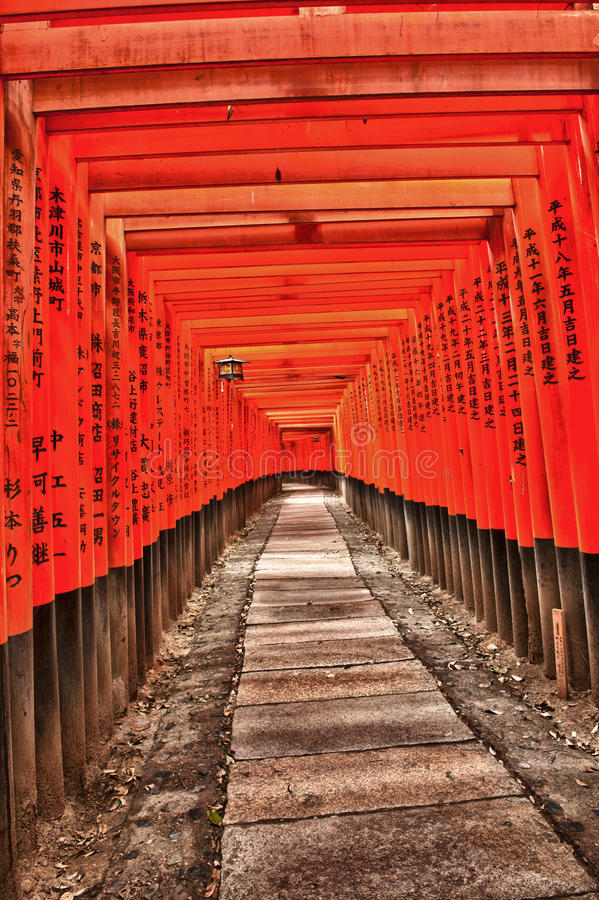 Download Fushimi Inari stock photo. Image of orange, belief, pathway - 26464038