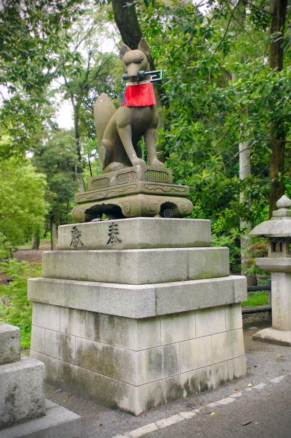 Fushimi Inari Fox纪念碑 库存照片