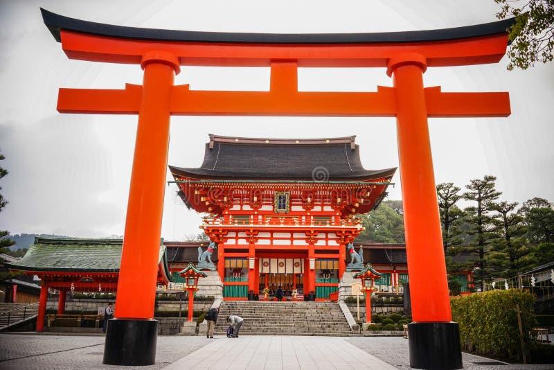 Fushimi Inari Taisha在京都,日本 图库摄影