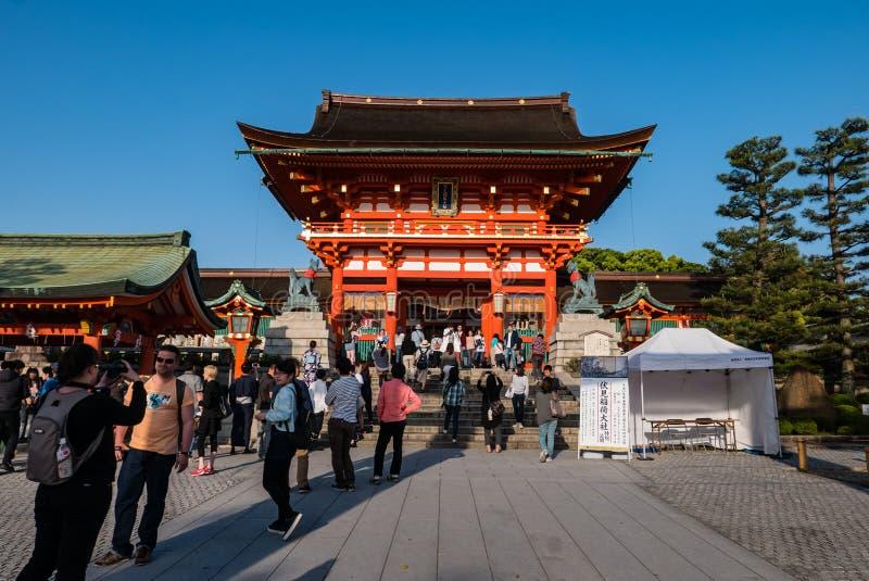Fushimi Inari Taisha寺庙 免版税图库摄影