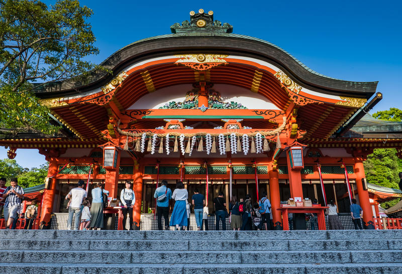 Fushimi Inari Taisha寺庙 图库摄影
