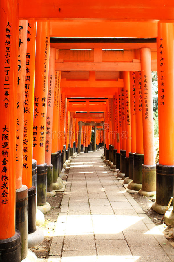 Fushimi Inari Taisha royalty-vrije stock afbeelding