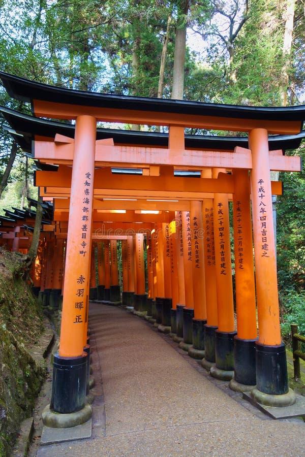 Fushimi Inari Taisha, Kyoto, Japan fotografering för bildbyråer