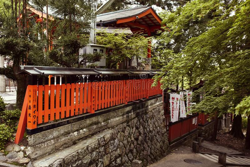 Fushimi Inari Taisha relikskrin i Kyoto, Japan arkivbild