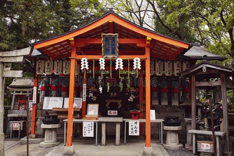 Fushimi Inari Taisha relikskrin i Kyoto, Japan royaltyfria foton