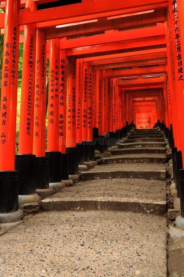 Fushimi Inari Taisha Shrin στο Κιότο στοκ φωτογραφίες με δικαίωμα ελεύθερης χρήσης